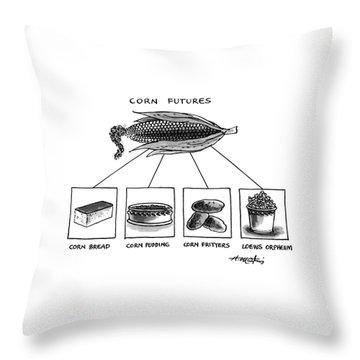 Corn Furures Throw Pillow