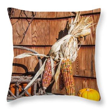 Corn Throw Pillow by Guy Whiteley