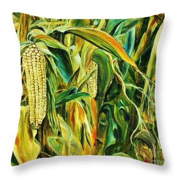 Spirit Of The Corn Throw Pillow by Anna-maria Dickinson