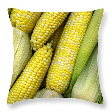 Corn On The Cob II Throw Pillow