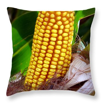 Throw Pillow featuring the photograph Corn On The Cob by Jeff Lowe