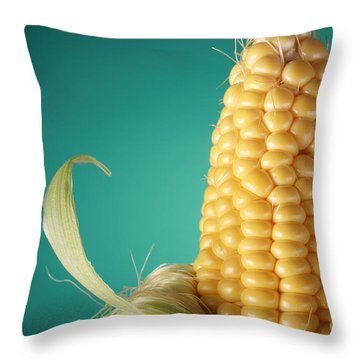 Corn On The Cob Throw Pillow by Sharon Dominick