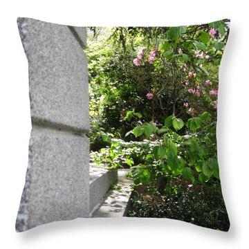 Corner Garden Throw Pillow