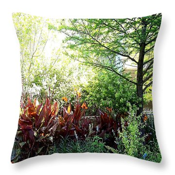 Corner Garden Throw Pillow