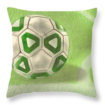 Corner Kick Throw Pillow