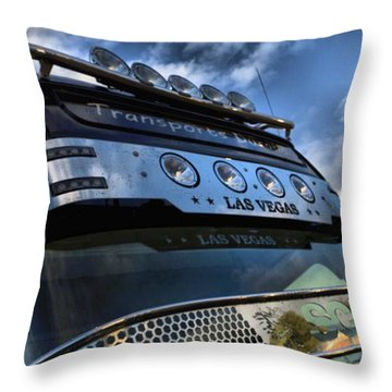Throw Pillow featuring the photograph Corner Light Stick by Mick Flynn