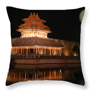 Throw Pillow featuring the photograph Corner Of Forbidden City by Yue Wang