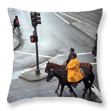 Corner Of Post And Powell Throw Pillow