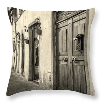 Corner Of Volterra Throw Pillow