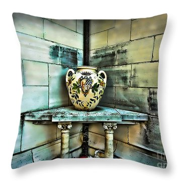 Corner Vase Throw Pillow by Joan  Minchak