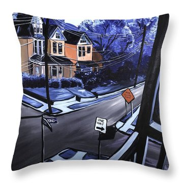 Corner View Throw Pillow