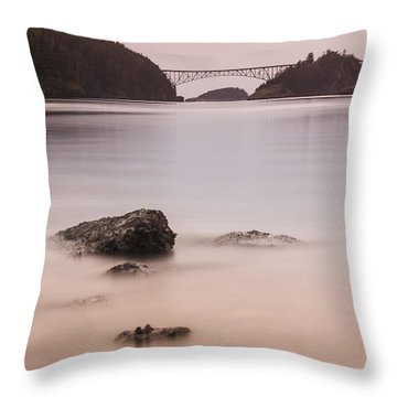 Cornet Bay Golden Glow Throw Pillow