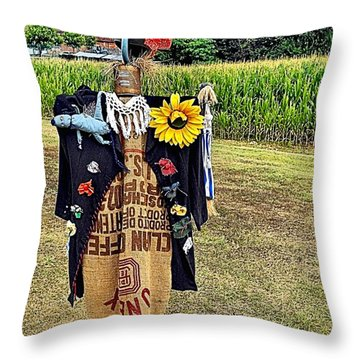 Cornfield Fete Throw Pillow by Lauren Leigh Hunter Fine Art Photography