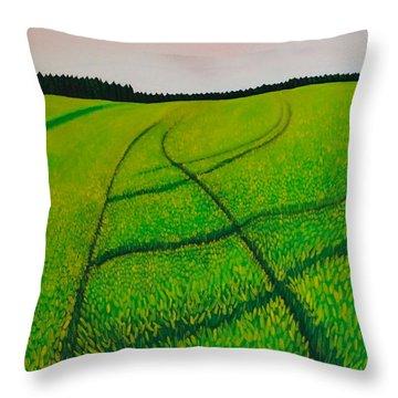 Cornfield Throw Pillow by Sven Fischer