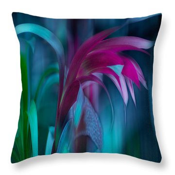 Cornflower Dreams Mindscape Throw Pillow