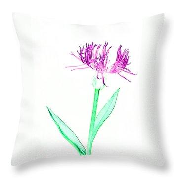 Cornflower No.3 Throw Pillow