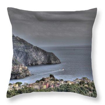 Corniglia And Manarola By The Sea Throw Pillow