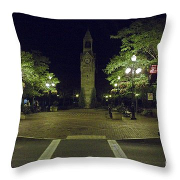 Corning Clock Tower Throw Pillow