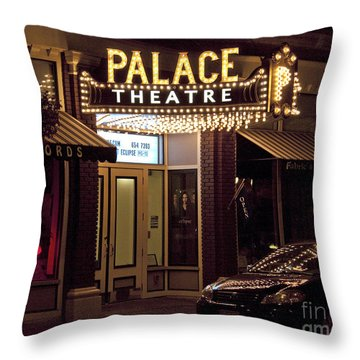 Corning Palace Theatre Throw Pillow