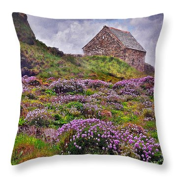 Cornish Countryside Throw Pillow