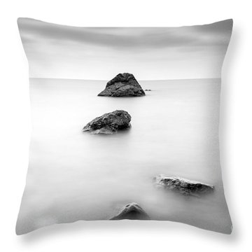 Cornish Seascape  Throw Pillow by John Farnan