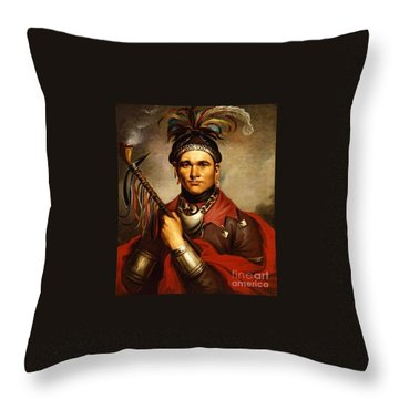Cornplanter Throw Pillow by Pg Reproductions
