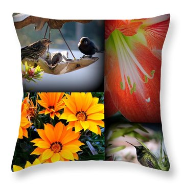 Cornucopia Garden Throw Pillow
