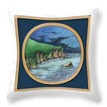 Cornwall Cliffs Throw Pillow