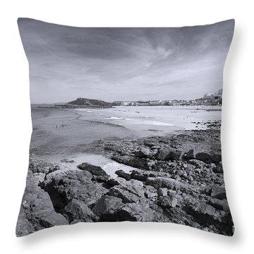 Cornwall Coastline 2 Throw Pillow