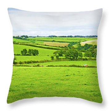Cornwall Panorama Color Throw Pillow by Chevy Fleet
