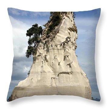 Coromandel Rock Throw Pillow by Barbie Corbett-Newmin
