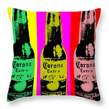 Corona Beer Throw Pillow