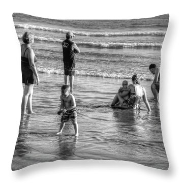 Coronado Beach Tourist Throw Pillow