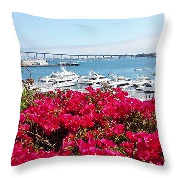 Coronado Bridge Throw Pillow by Jasna Gopic