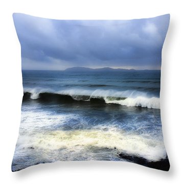 Coronado Islands In Storm Throw Pillow