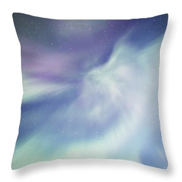 Coronal Aurora Throw Pillow