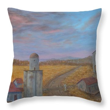 Corporate Farmers' Legacy Throw Pillow