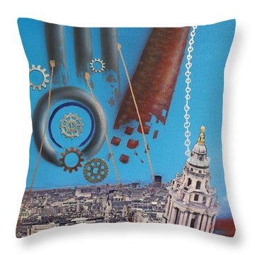 Corporate Greed Throw Pillow