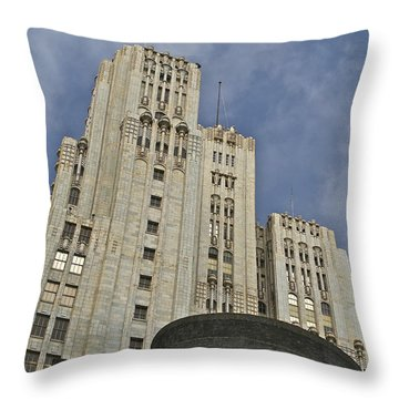 Corporate Monolith  Throw Pillow