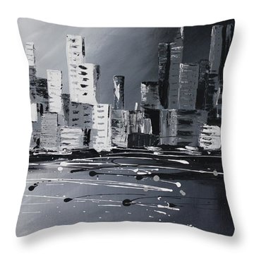 Corporate World Throw Pillow