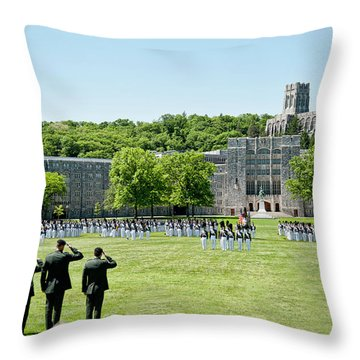 Corps Of Cadets Present Arms Throw Pillow