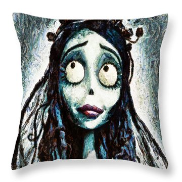 Corpse Bride Throw Pillow by Joe Misrasi