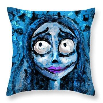 Corpse Bride Phone Sketch Throw Pillow