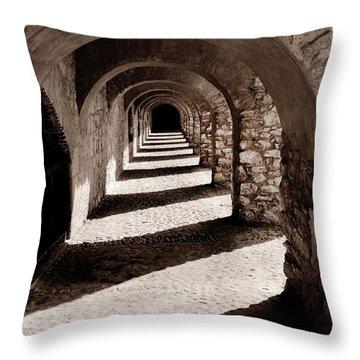 Corridors Of Stone Throw Pillow