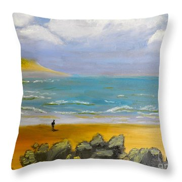 Corrimal Beach Throw Pillow