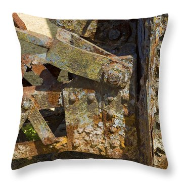 Corroded Steel Throw Pillow