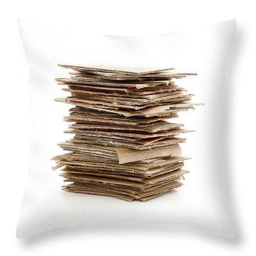 Corrugated Fiberboard Throw Pillow by Fabrizio Troiani