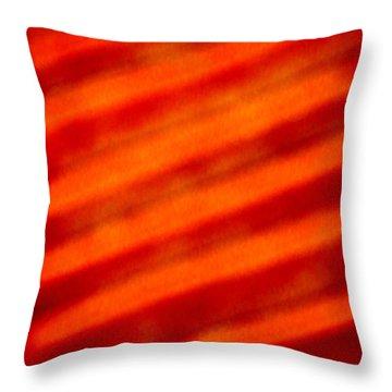 Corrugated Orange Throw Pillow