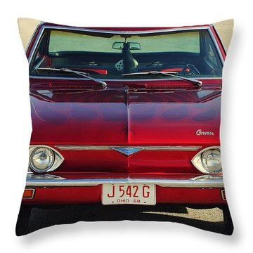 Corvair Throw Pillow by Frozen in Time Fine Art Photography