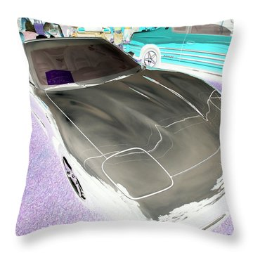 Throw Pillow featuring the photograph Corvette 2003 50th Anniv. Edition by John Schneider